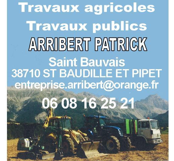 Patrick Arribert Travaux agricoles et publics à Saint-Baudille-et-Pipet
