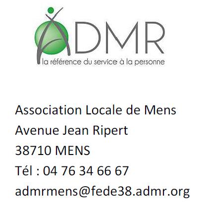 ADMR services à la personne à Mens