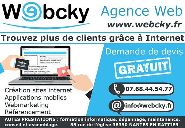 Webcky création de site internet à La Mure